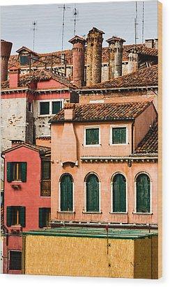 Venetian Facade Wood Print