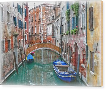 Wood Print featuring the photograph Venetian Idyll by Hanny Heim