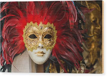 Venetian Mask Wood Print