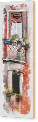 Venetian Windows 4 Wood Print by Greg Collins