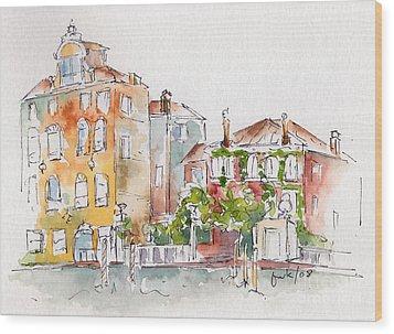 Venezia Grand Canal Wood Print by Pat Katz