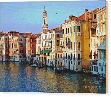 Venezia Grand Canal Wood Print