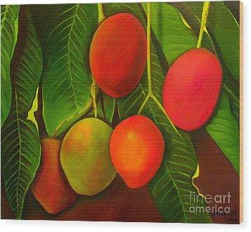 Venezuelan Mangos Wood Print by Fanny Diaz
