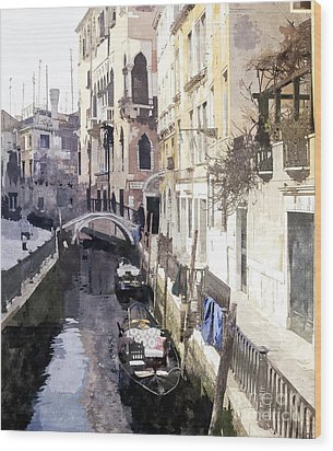 Venice 1 Wood Print by Julie Woodhouse