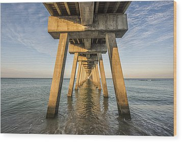 Venice Below The Pier Wood Print by Jon Glaser