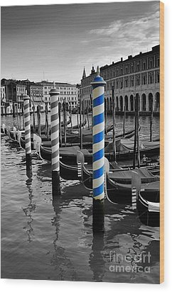 Venice Blue Wood Print by Henry Kowalski