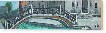 Venice Bridge Wood Print by Rita Brown