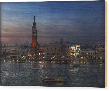 Wood Print featuring the photograph Venice By Night by Hanny Heim
