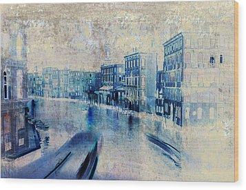 Venice Canal Grande Wood Print by Frank Tschakert
