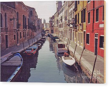 Wood Print featuring the photograph Venice Canal by Rita Brown