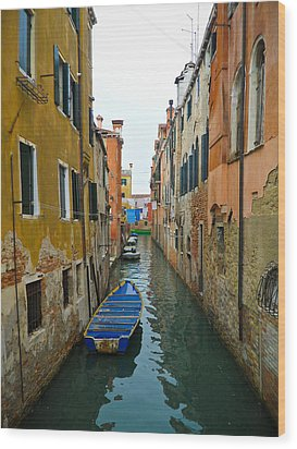 Wood Print featuring the photograph Venice Canal by Silvia Bruno