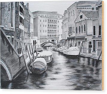 Venice City Of Love Wood Print by Chris Fraser