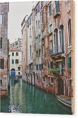Venice City Of Water 2 Wood Print by Julie Palencia