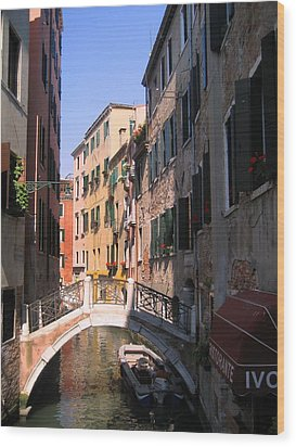 Venice Wood Print by Dany Lison
