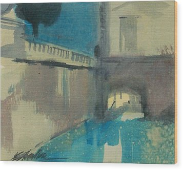 Wood Print featuring the painting Venice  by Ed  Heaton