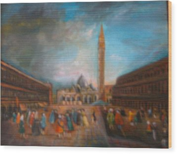 Venice Wood Print by Egidio Graziani