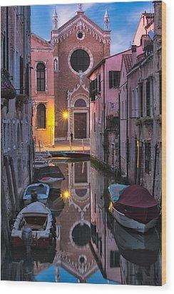 Venice Evening Wood Print by Joan Herwig