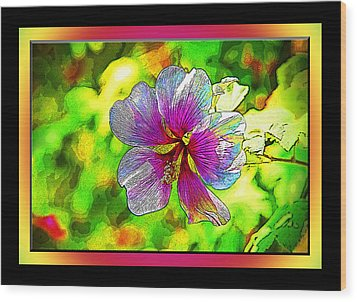 Venice Flower - Framed Wood Print
