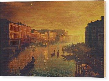 Venice From The Rialto Bridge Wood Print by Blue Sky