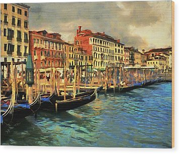 Venice From The Water Wood Print by Jeff Kolker