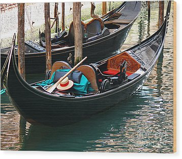 Wood Print featuring the photograph Venice Gondola by Jeanne  Woods
