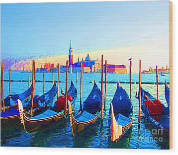 Venice Hues Wood Print by Marguerita Tan