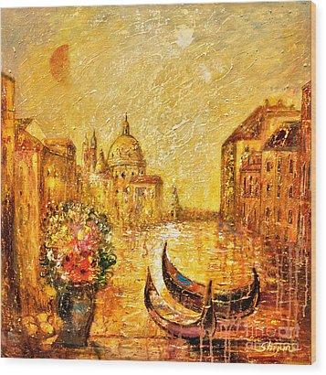 Venice II Wood Print by Shijun Munns