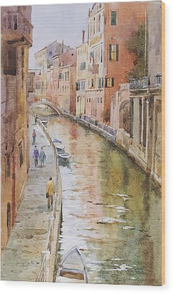 Venice In October Wood Print by Andrii Gerasymiuk