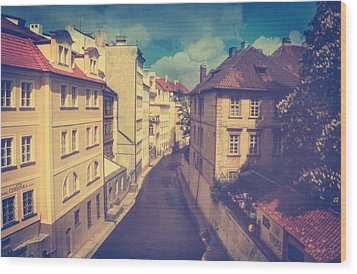 Venice In Prague Wood Print by Taylan Apukovska