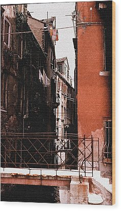 Wood Print featuring the photograph A Chapter In Venice by Ira Shander
