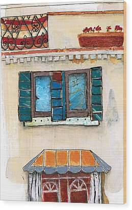 Venice Italy Building Wood Print by Robin Luther