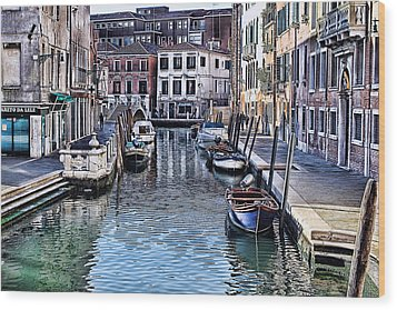 Venice Italy Iv Wood Print by Tom Prendergast