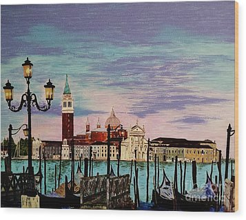 Venice  Italy By Jasna Gopic Wood Print by Jasna Gopic