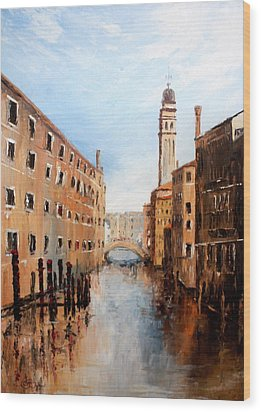 Wood Print featuring the painting Venice Italy by Jean Walker