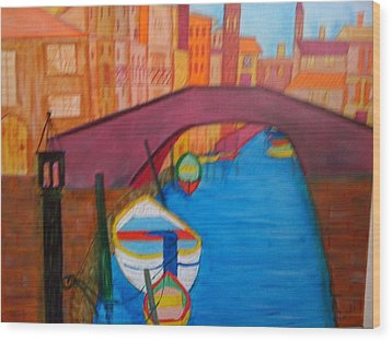 Wood Print featuring the painting Venice by Judi Goodwin