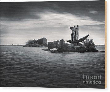 Venice Lagoon Wood Print by Gregory Dyer