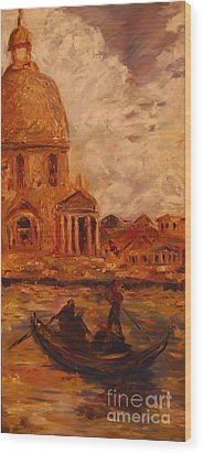 Venice Morning Wood Print by Nancy Bradley