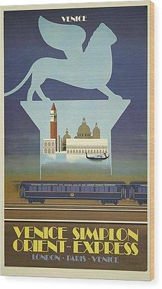 Venice Orient Express Wood Print