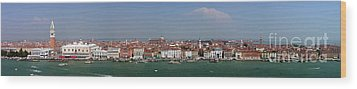 Wood Print featuring the photograph Venice Panorama by Art Photography