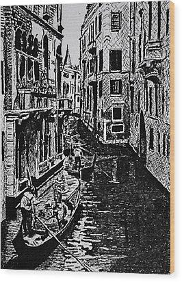 Venice Wood Print by Patricio Lazen