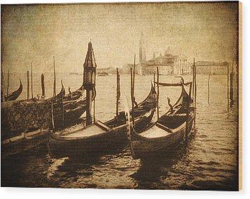 Venice Postcard Wood Print by Jessica Jenney