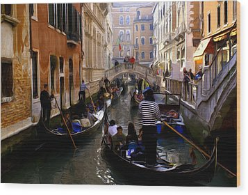 Wood Print featuring the digital art Venice by Ron Harpham