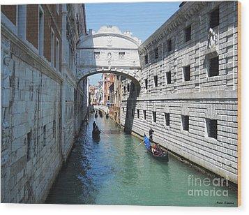 Venice Series 3 Wood Print by Ramona Matei