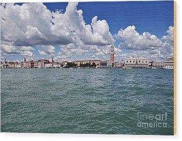 Venice Wood Print by Simona Ghidini