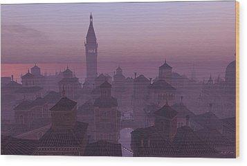 Venice Twilight Wood Print by Amanda Holmes Tzafrir