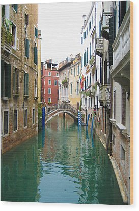 Venice Waterway Wood Print
