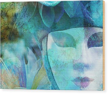 Wood Print featuring the photograph Venitian Carnival - Mask by Barbara Orenya