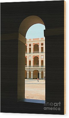 Ventana De Arco Wood Print by The Art of Alice Terrill