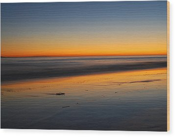Ventura Beach Evening Wood Print by Catherine Lau
