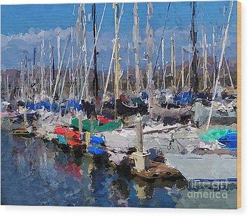 Ventura Harbor Village Wood Print